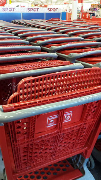 <b>What's this? What's happening? What's going on? Target carts on a snowy afternoon—1 January 2014</b>  I had something else planned for today's post; but, was so struck by the unprecedented sight of a packed cart area that I changed gears. Most people, apparently, were wiser than we—staying off the horribly slippery roads. However you chose to spend today, I wish you a happy and healthy new year!