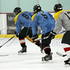 <b>. . . and, action! Twin Rinks Ice Pavilion: Leisure League Grey vs. Blue—23 August 2014</b>  My man (Blue #6) works hard for the money; then, he plays hard! Most of his hockey games end <i>really late</i>. Saturday's game ended at a reasonable hour; so, I tagged along. He made good on his promise to score a goal for me (his team's only goal for the night). Fun!