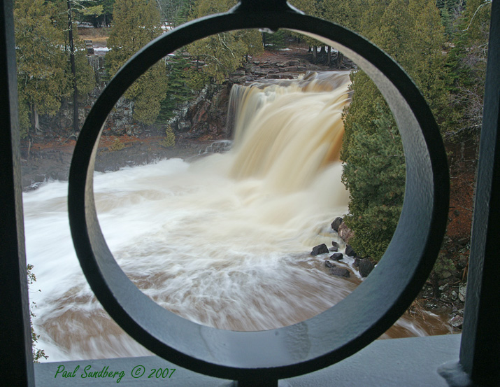 Upper Gooseberry Falls<br /> <br /> Feeling the spray on your face and hearing the tremendous roar of the dropping water adds to the experience of watching the spring runoff.