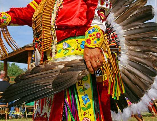 Grand Portage Rendezvous Days<br /> <br /> The traditional pow-wow is so fun to watch as the many bands, tribes and 1st nations dance together in their colorful regalia.