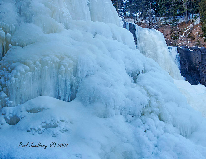With the dropping temperatures last week most of the North Shore waterfalls took on a whole new look. I just love to photograph the ice at this time of year. It is so beautiful with its many shapes and colors.  <br /> <br /> I was able to photograph both the Gooseberry and the Cascade Rivers last week.