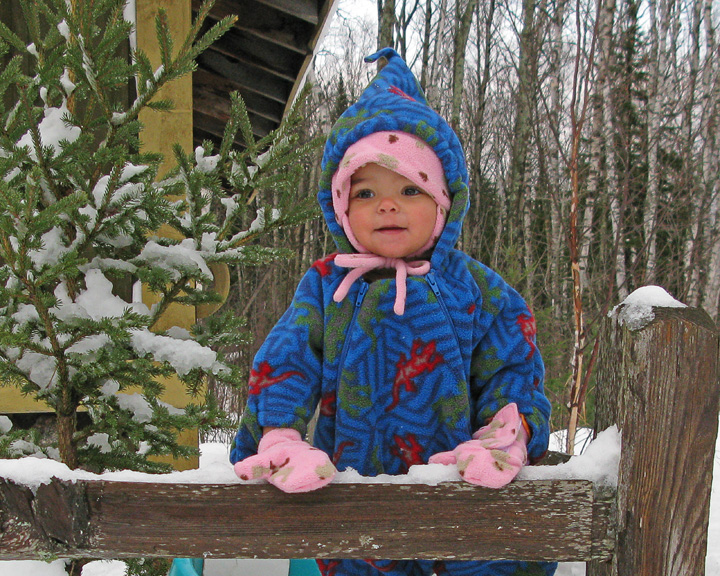 Adeline in the Snow<br /> <br /> Our granddaughter, Adeline (a native Georgia girl) was excited to experience snow for the first time.