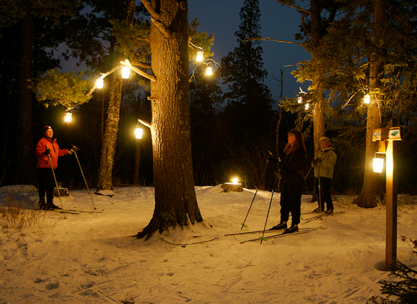 Gooseberry Candlelight Ski 003<br /> <br /> One of the volunteers, Paul Wannarka, placed several of the candles in the branches of a white pine. It was so beautiful that it brought tears to some visitors' eyes. Many people said it was the highlight of the evening.