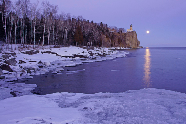 Split Rock Lighthouse State Park 002<br /> <br /> The next night was the full moon so I returned to the lighthouse and photographed the scene from further down the shore.