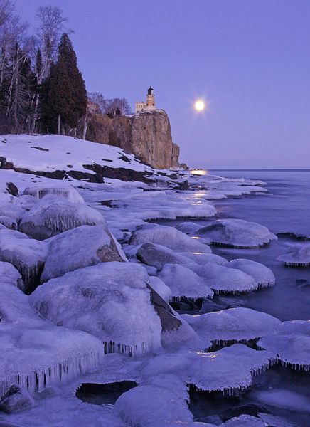 Split Rock Lighthouse State Park 003<br /> <br /> The ice covered boulders along the shore again added to the evening's ambiance.