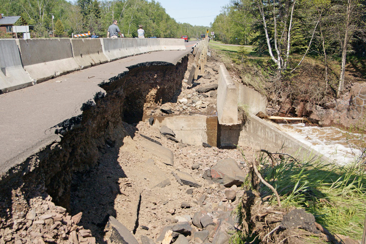 Devil Track River 002<br /> <br /> The power of the water undercut the highway.