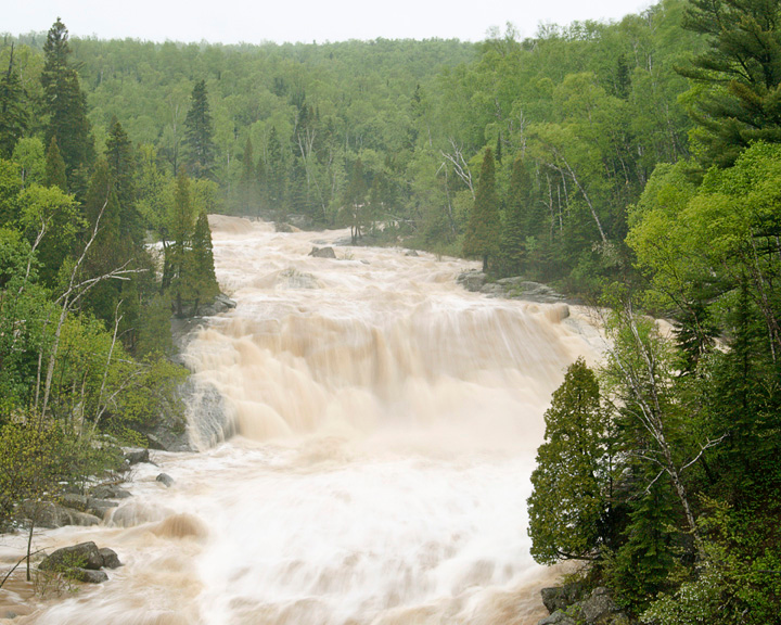 Beaver River 001<br /> <br /> Thursday night we had lots of rain on the North Shore. Two Harbors had just over 3 inches and in Grand Marais they had over 5 inches. The power of that much water heading for Lake Superior is pretty awesome.