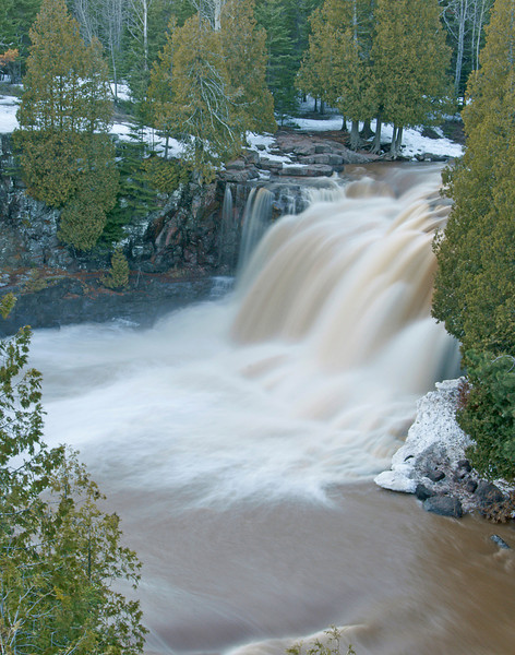 Upper Gooseberry Falls Now<br /> <br /> When we returned home we found the river open and spring had finally arrived on the North Shore.