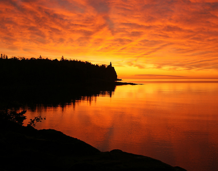 Sunrise at Split Rock 002<br /> <br /> It turned out to be the best sunrise of all.