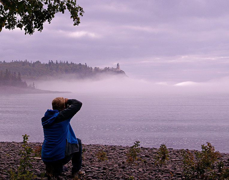 Foggy Morning at Split Rock Light 003<br /> <br /> Henning is an excellent photographer and would get as excited as I with each click of the shutter.