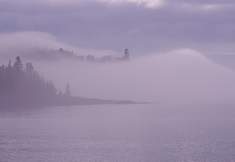 Foggy Morning at Split Rock Light 002<br /> <br /> The view of the lighthouse was constantly changing. One second it would disappear and the next it appears as though rising out of the fog creating awesome photo opportunities.