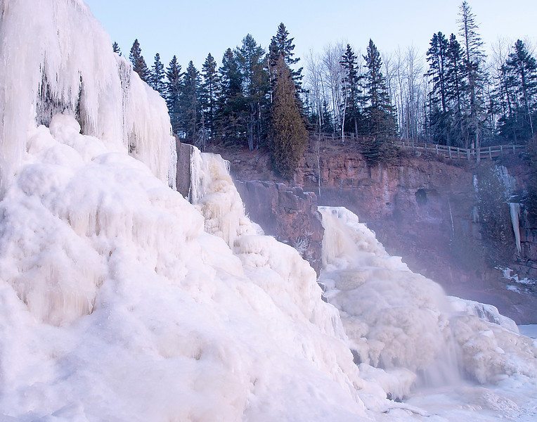 Middle Gooseberry Falls<br /> <br /> In many places it is like truckloads of marshmallow cream flowing downstream.