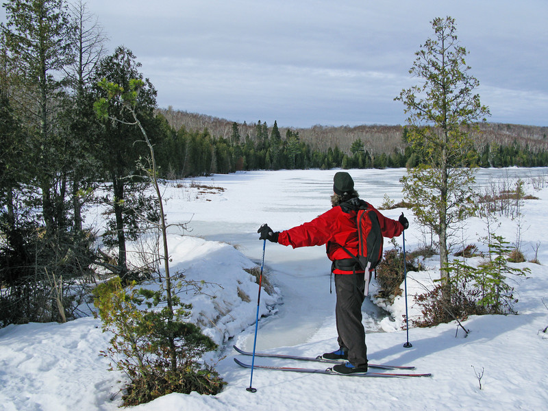 Tettegouche Lake Tettegouche State Park<br /> <br /> The backcountry of Tettegouche has five mountain-like lakes. They are surrounded by cliffs and connected by cedar bogs and creeks. Skiing over the hard spring snow is something I look forward to each year. I have been doing it since 1979.