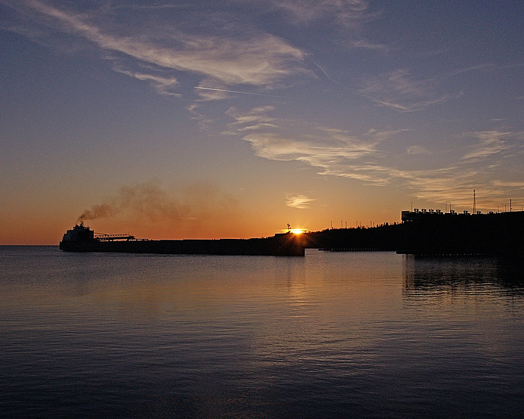 Agate Bay Two Harbors 001<br /> <br /> I was also able to photograph two sunsets this week. On Tuesday the Mesabi Miner ore boat came into Two Harbors.
