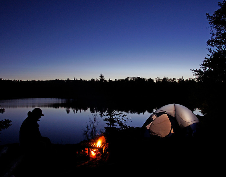 Quiet Evening On Kelso Lake<br /> <br /> We found all the campsites open so we picked one with a beautiful cliff overlooking the water. As the stars started to appear it made for some great photos.