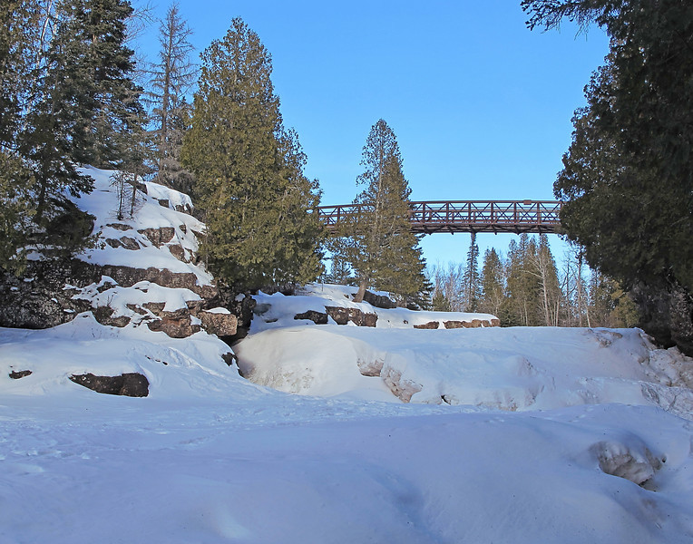 Gooseberry River Hiking Bridge<br /> <br /> Ruby and Kate are pretty lucky to have parents that place a high value on the outdoors. They take every available opportunity to let their kids enjoy the beautiful scenery along the North Shore.