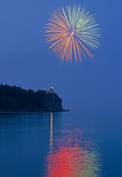 Split Rock Centennial Fireworks 003