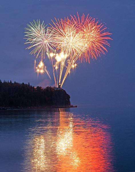 Split Rock Centennial Fireworks 004