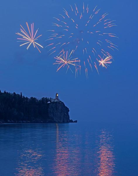 Split Rock Centennial Fireworks 002
