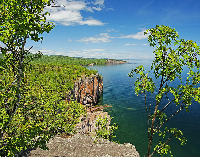 Tettegouche State Park 001<br /> <br /> Palisade Head with Shovel Point in the background both located in Tettegouche State Park.