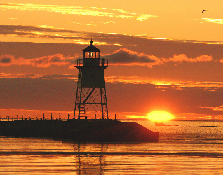 Sunrise on Grand Marais Harbor
