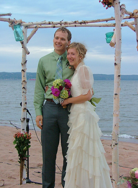 Adam and Jordan Wedding<br /> <br /> We have included a photo of Adam and Jordan taken after their outdoor wedding ceremony.