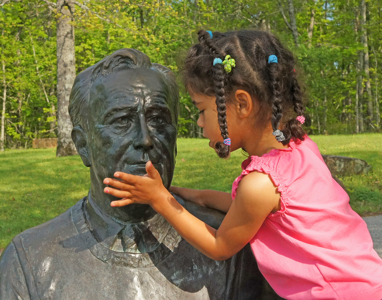 F. D. Roosevelt State Park 004<br /> <br /> Addie gave him a hug for all the wonderful work that he did for our country.