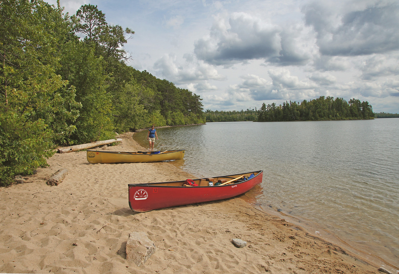 Canoe Country 006<br /> <br /> Basswood Lake has hundreds of campsites to choose from. We spent part of the afternoon at one that has a beautiful sand beach. Between swimming, catching crayfish and just sitting on the beach it was a fun afternoon.