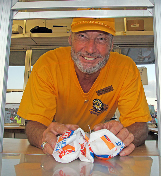Fisherman's Picnic Lion's Club Fish Burgers<br /> <br /> Karla and I each had our Lion's Club fish burgers. They are delicious. The herring is caught each day just outside the Grand Marais Harbor.
