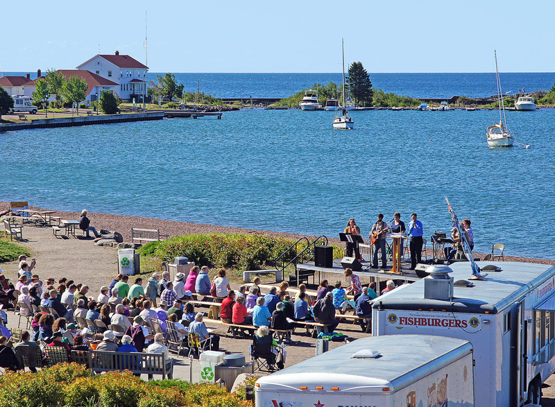 Fisherman's Picnic Worship in the Park<br /> <br /> Cornerstone Community Church conducted the worship service in the park next to the beautiful blue waters of Lake Superior.