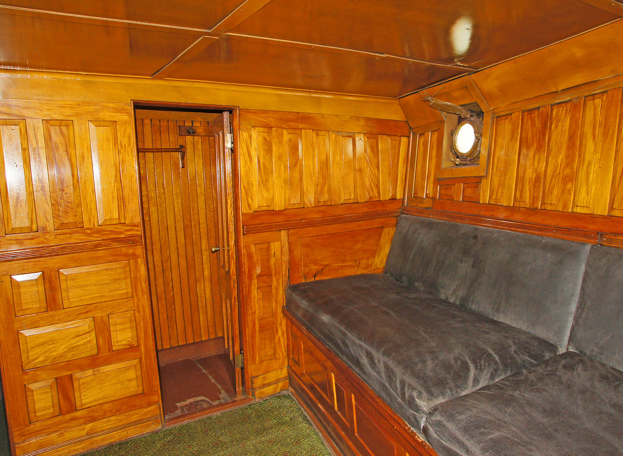 Edna G. Steam Powered Tug Boat 005<br /> <br /> She has a beautifully hand finished wood interior.