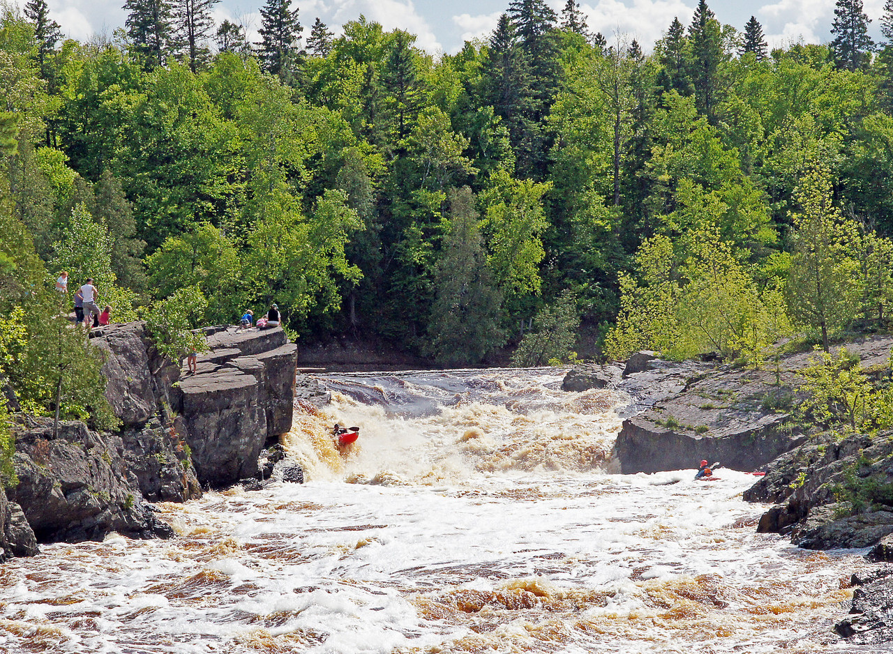 Jay Cooke State Park 003<br /> <br /> Some extreme kayakers came over the falls while the class was photographing the rapids.