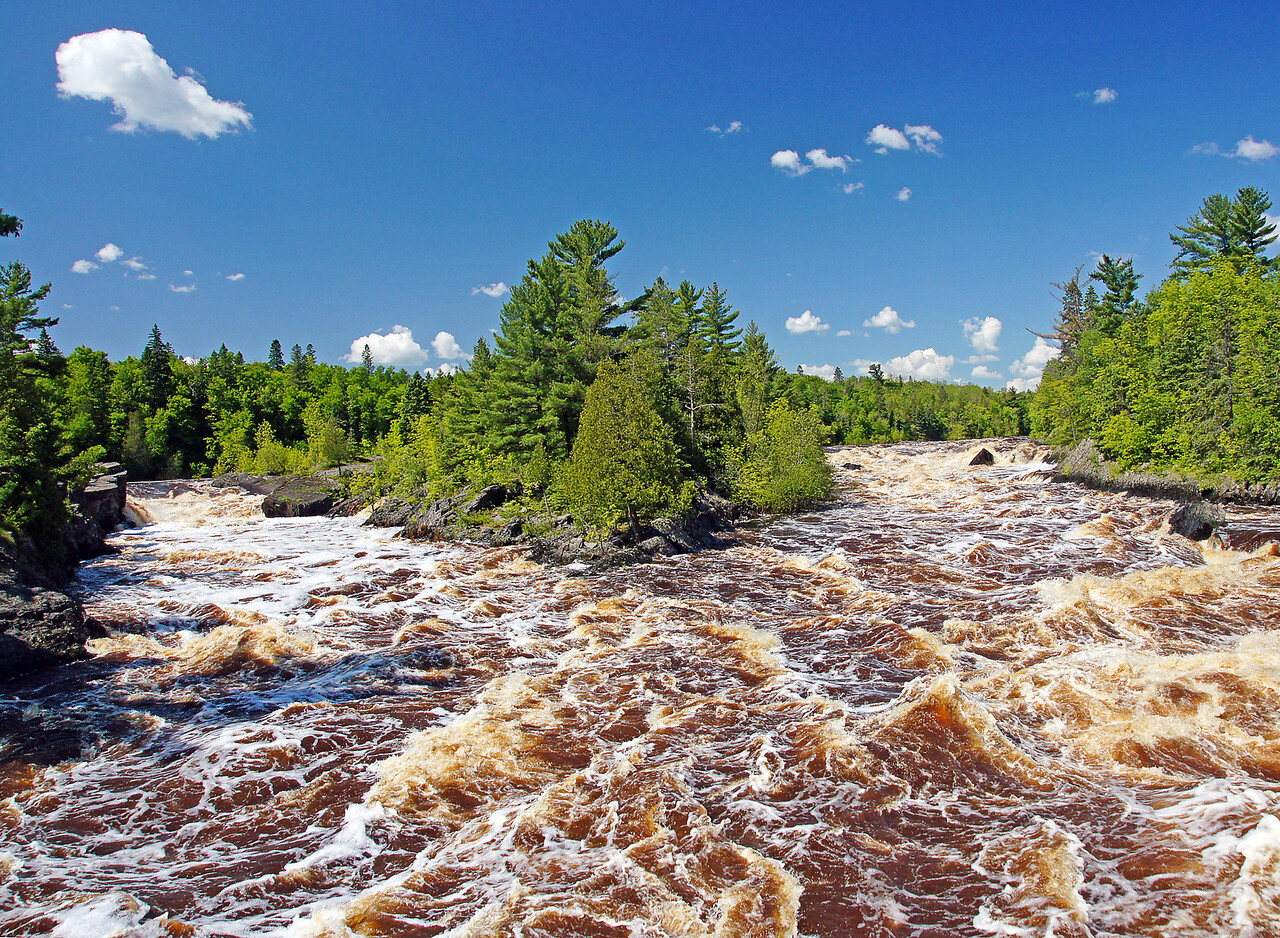 Jay Cooke State Park 002<br /> <br /> I cannot remember seeing this much water coming through Jay Cooke State Park.  Standing on the swinging bridge was incredible.