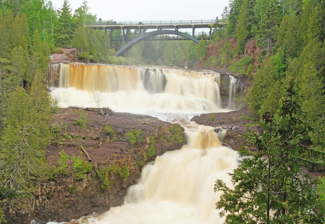 Lower Gooseberry Falls<br /> <br /> All of these falls will remain at high flows for at least two weeks.