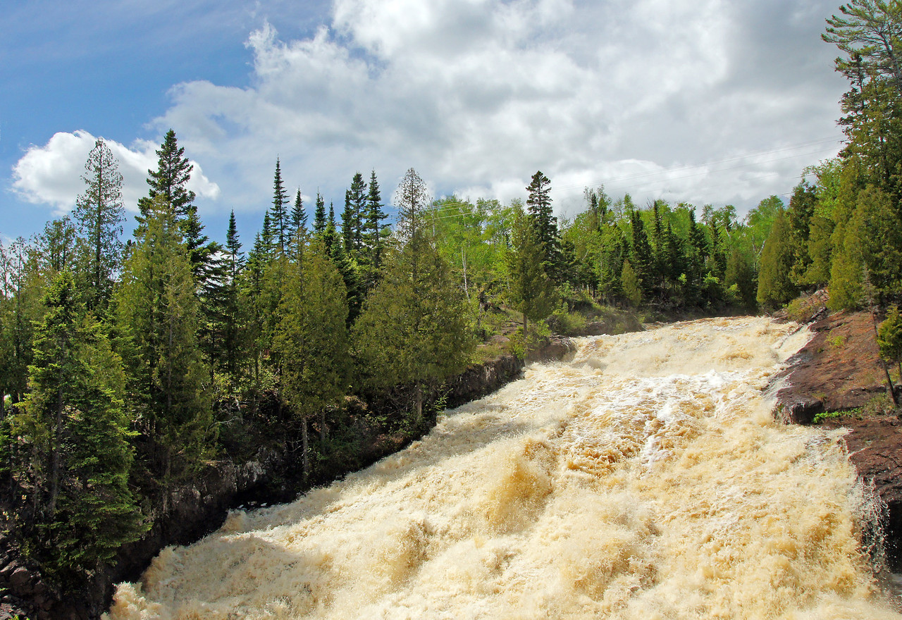 Cross River<br /> <br /> Heavy rains over a four day period have sent thousands of gallons of water over each of the North Shore waterfalls.
