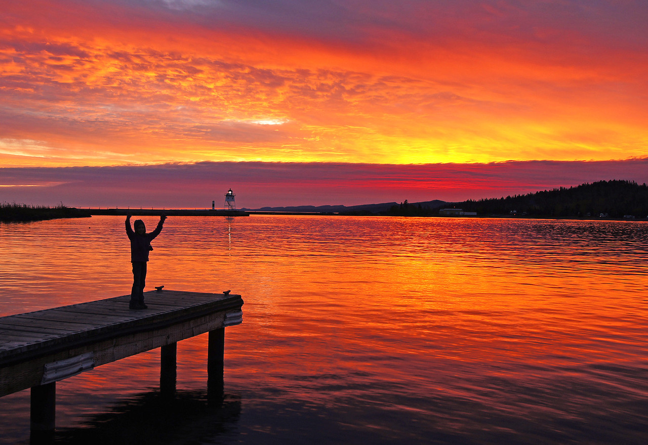 Grand Marais Sunset 002<br /> <br /> She made the photo come alive.