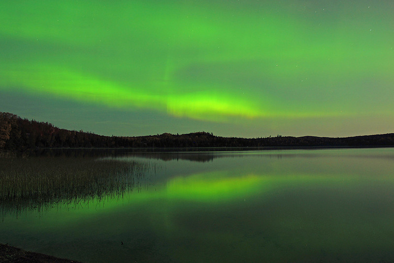 Aurora Borealis 003<br /> <br /> We sat in complete silence watching God paint the evening sky.
