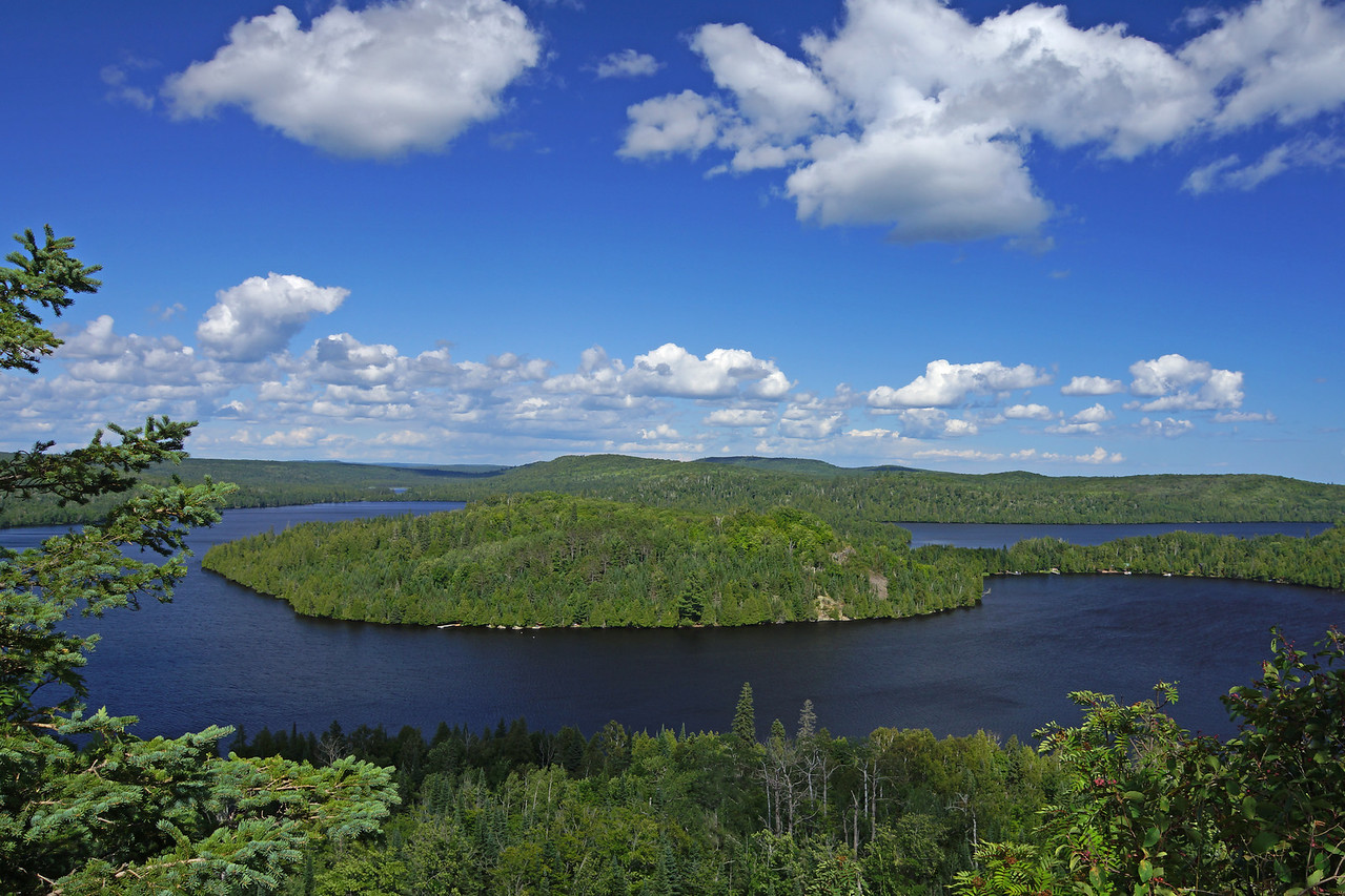 Summer Caribou Lake<br /> <br /> On the way home I stopped at Caribou Lake and hiked up to White Sky Rock on the Superior Hiking Trail. Overlooking Caribou Lake was just as awesome.