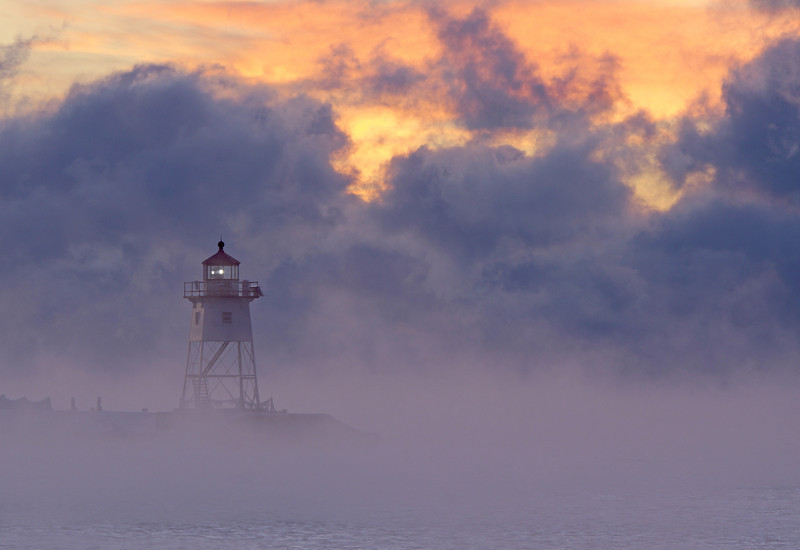 Sea Smoke at Sunrise