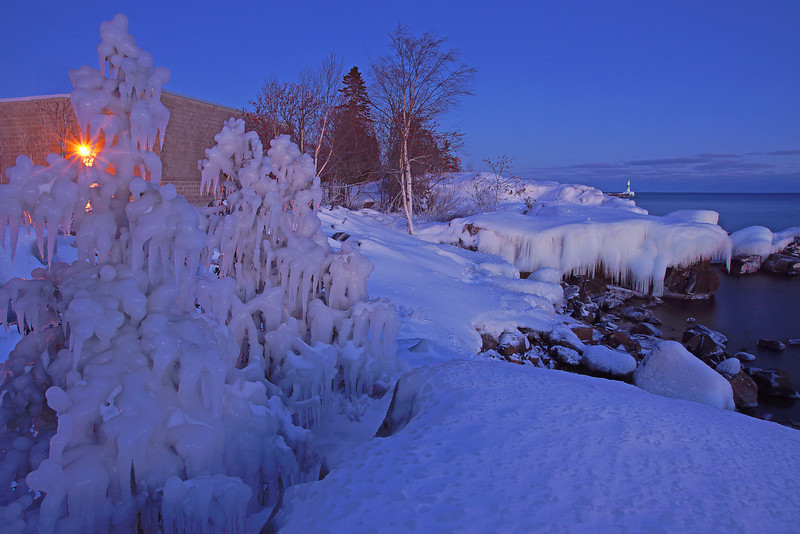 Winter Grand Marais Harbor 002