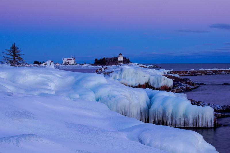 Winter Grand Marais Harbor 001