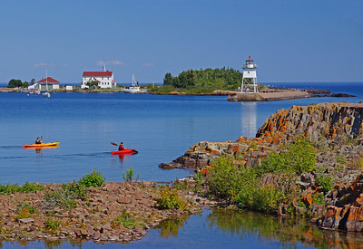 August Kayaking Grand Marais Harbor