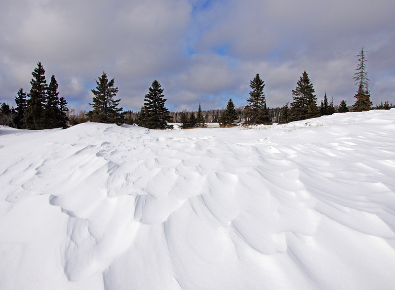 Snow Drifts 001<br /> <br /> For the past two weeks we have had plenty of snow on the ground for winter activities. Earlier this week, strong northwest winds caused some of the frenzied snow to pile up on the ridge tops.