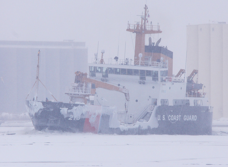 Coast Guard Cutter Alder<br /> <br /> The Coast Guard Cutter Alder broke up the ice in the harbor so that the Munson could get through.