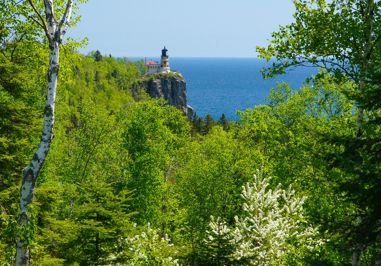 Split Rock Lighthouse State Park 001<br /> <br /> I really enjoy hiking when the new leaves of spring stand out with their many shades of green.  Between the light greens of the ferns, aspen and birch and the darker shades of the spruce, balsam and pine, the North Shore comes alive with spring colors. Last week we hiked to several locations along the shore.
