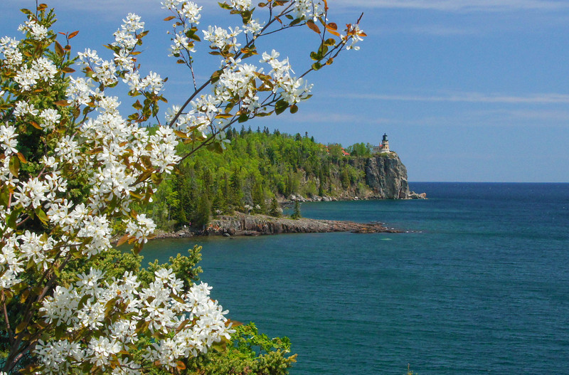 Split Rock Lighthouse State Park 002<br /> <br /> The historic lighthouse can be seen while hiking from many locations on the trails at Split Rock Lighthouse State Park.