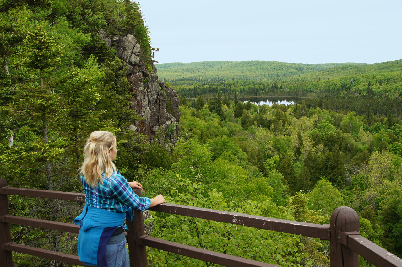 Oberg Mountain 002<br /> <br /> It has eight overlooks with impressive views of the forest below.