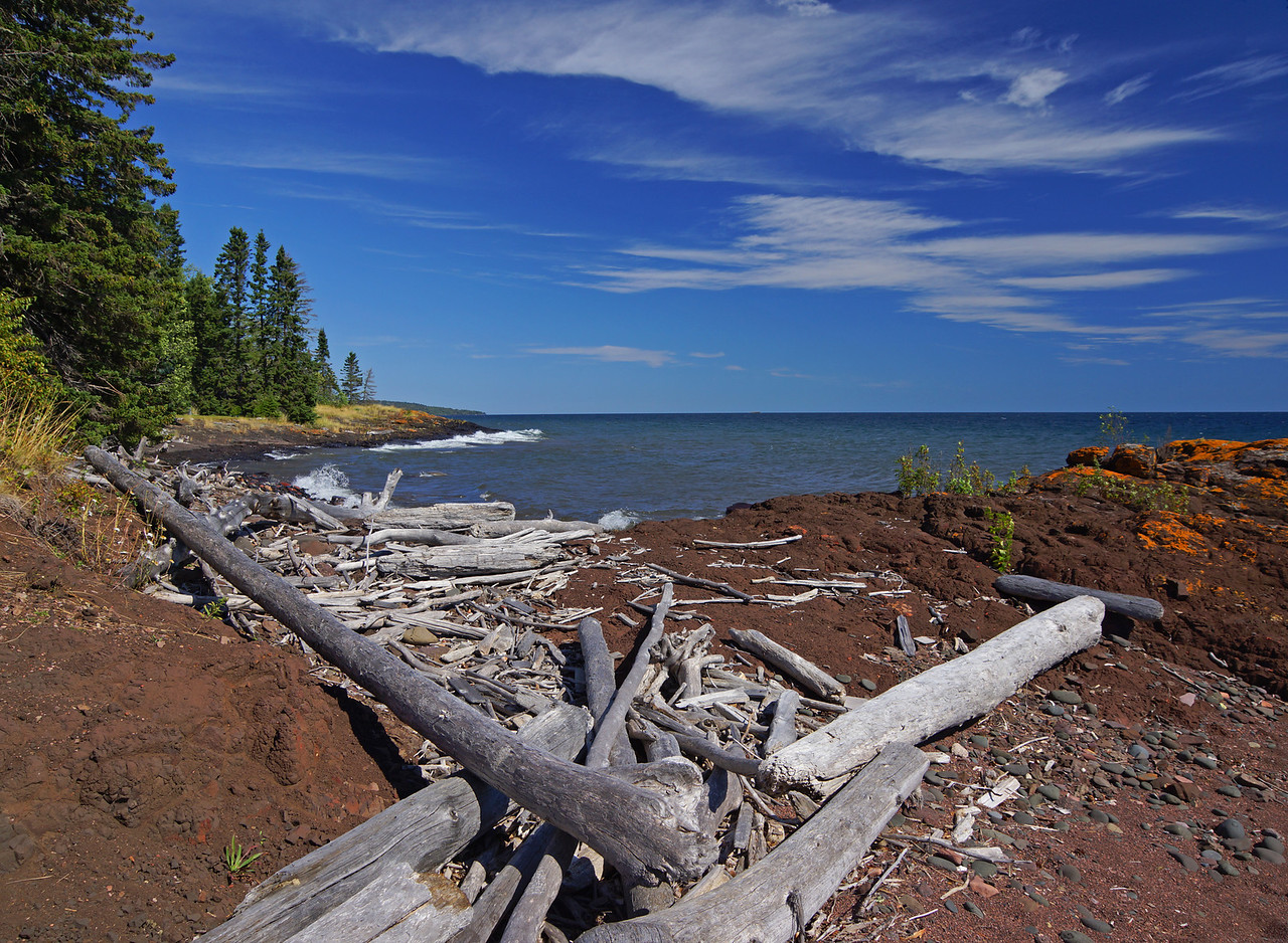 Grand Marais Shoreline 001<br /> <br /> Just outside of Grand Marais is this little stretch of beautiful shoreline that I keep going back to again and again. I finally caught the clouds just right.