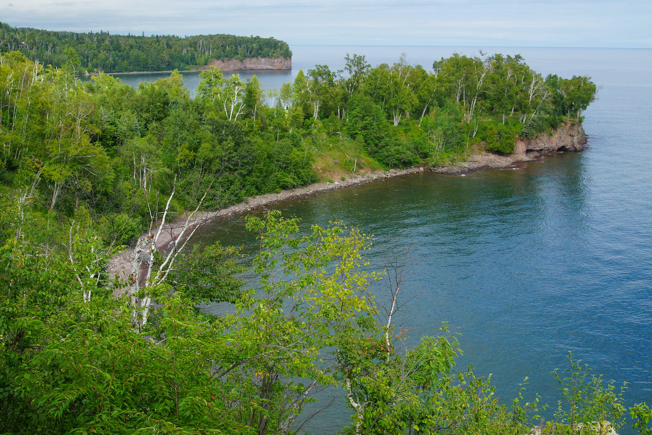View of Lake Superior Shoreline