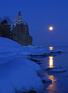 Valentine's Day Moonrise at Split Rock 003